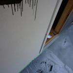 DIY塗装 美容室ドア(VATONブラック)