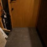 床にタイル施工4日目