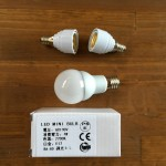 シーリングファンの電球をLED電球に交換&アダプター交換