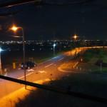 9/21 着工67日目(夜に2階からの景色を見てみた)
