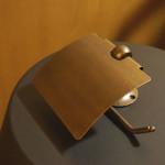施主支給品Part19.トイレのペーパーホルダー(真鍮)