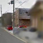 Googleストリートビューに家が反映されていた。